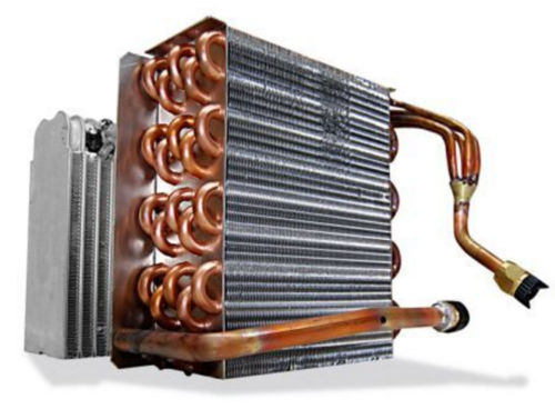 hvac coils inside view