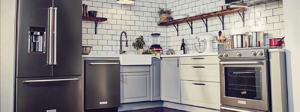Kitchen Aid stainless steel kitchen