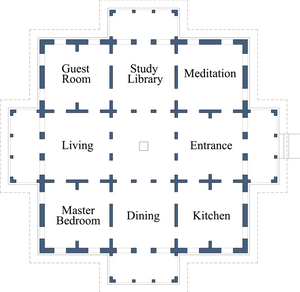 Fung Shui layout of home to create balance