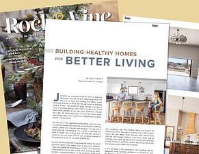 Rock & Vine Magazine Features Jen Rusty Stout JS2 Partners Healthy Home Builders