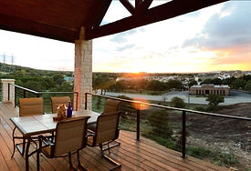 Texas Hill Country Builder Sunset Patio Healthy Home JS2 Partners