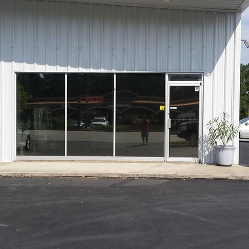 Business window tint