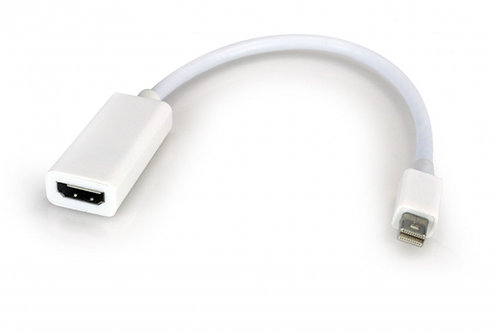 Xtech Adaptador Mini DisplayPort Macho - HDMI Hembra, 15cm, Blanco