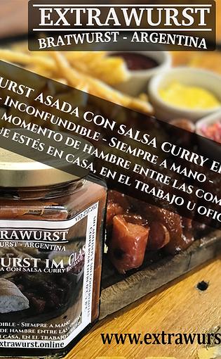 Currywurst asada con salsa curry en frasco de 350g