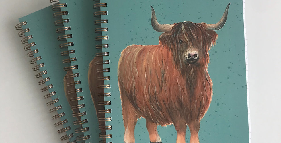 Highland Cow Hard Cover Note Book