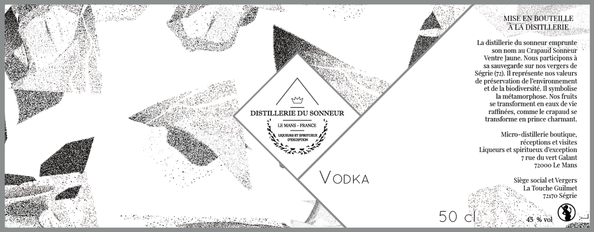 ÉTIQUETTE DE VODKA