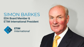 Simon Barkes is the new elected President for ETIM International
