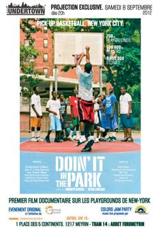 Projection en avant première du film Doin'It in the Park