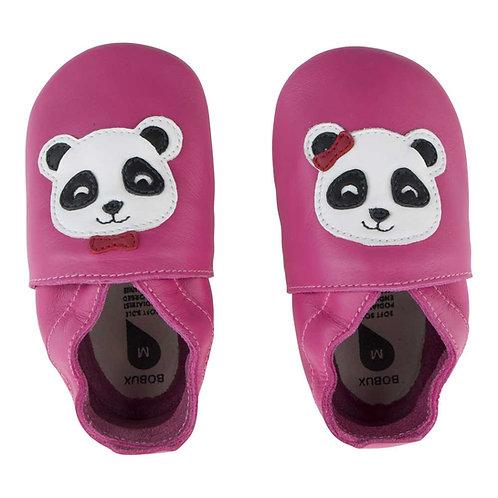 Bobux soft sole Panda fuxia