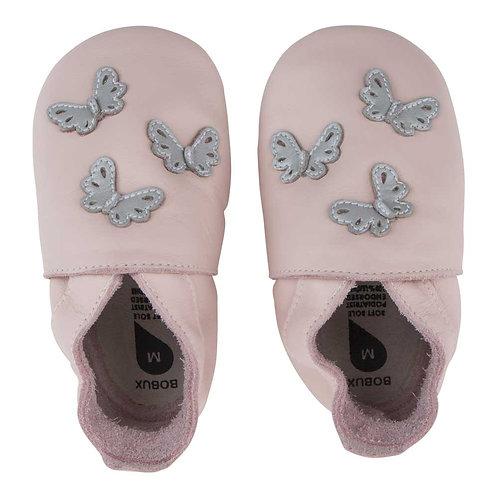 Bobux soft sole Farfalle rosa