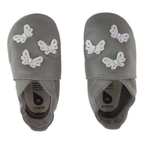 Bobux soft sole Farfalle grigia
