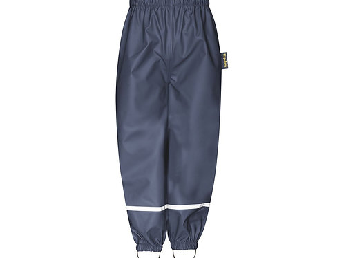 Pantaloni da pioggia blu senza bretelle