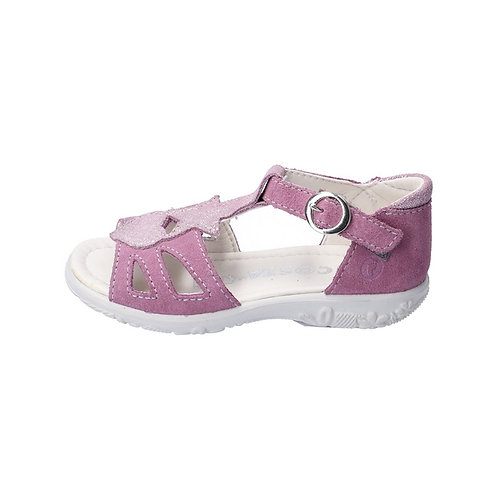 Ricosta Pippa sandali bambina purple chiusura velcro e finta fibbietta