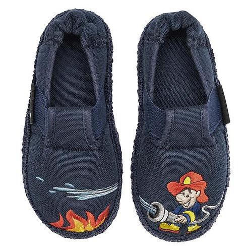 Nanga Pantofole cotone casa asilo morbidissime unisex Pompieri blu