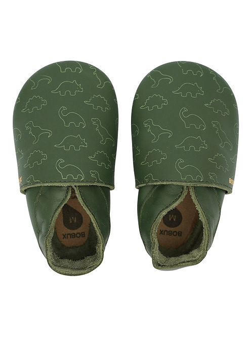 Bobux soft sole Dino stamp verde