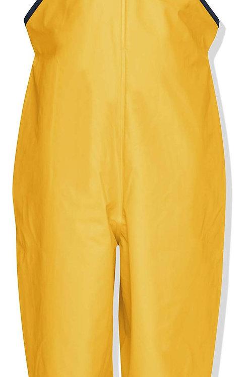 Pantaloni da pioggia con bretelle gialli