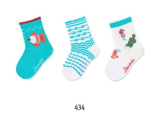 Copia di Sterntaler calzini corti set 3 paia fantasie varie 8322124-434