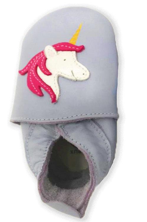 Bobux soft sole Unicorno argento