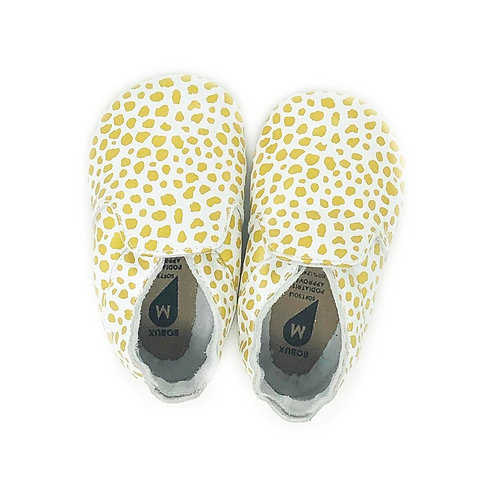 Bobux Soft Sole Stampa Dalmata Gold