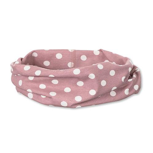 Sterntaler fascia/collare jersey rosa a pois