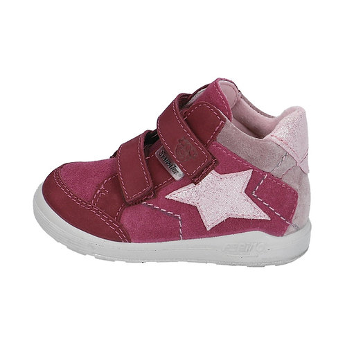 Pepino Kimi Fuxia scarpe sportive pelle impermeabili velcro