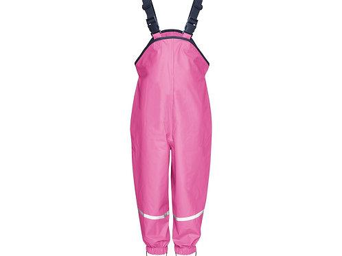 Pantaloni da pioggia con bretelle pink