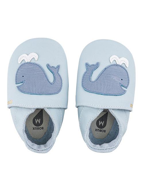 Bobux soft sole Balena azzurra