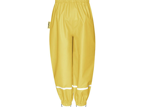 Pantaloni da pioggia gialli senza bretelle