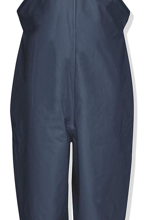 Pantaloni da pioggia con bretelle blu