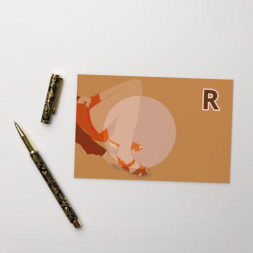 Postcard R