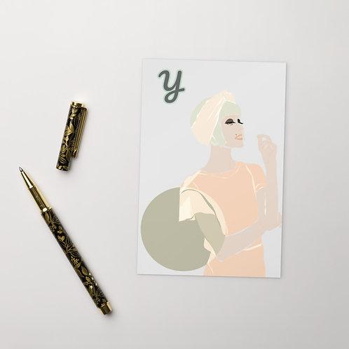 Postcard Y