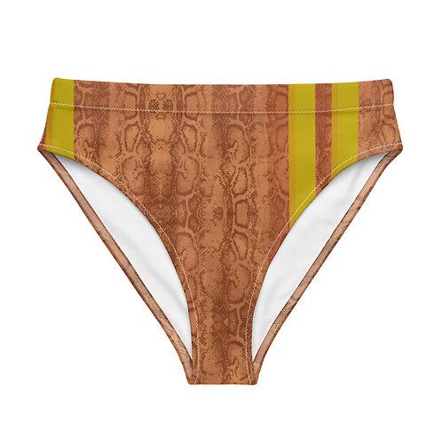 Recycled high-waisted bikini bottom