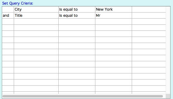 Set query with 2 lines