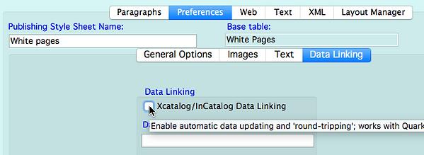 Data linking tab