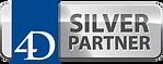 4D silver partner logo