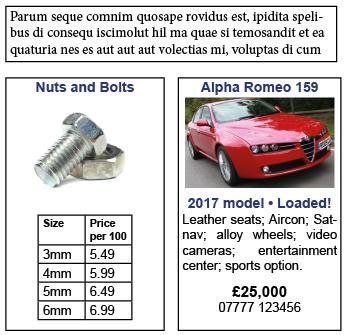 text box examples