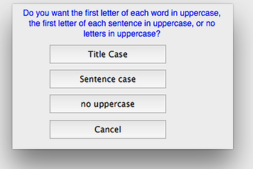 Case change options