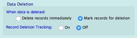 data deletion settings