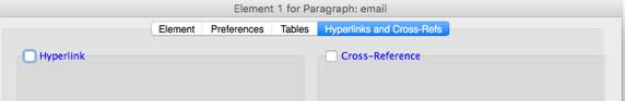 Hyperlinks and Cross-Refs Tab