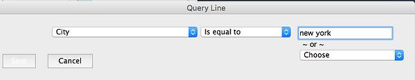 Set query line New York