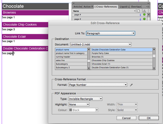 Edit Cross-References in InDesign