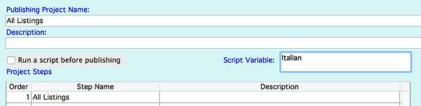 Script variable