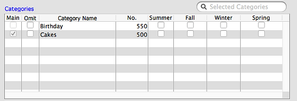 Category Options