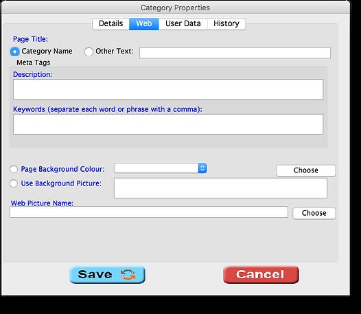 Category web tab