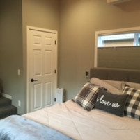 AFTER: entry to ensuite & 2 of 2 walk-in closets