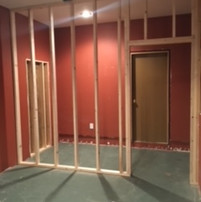 PROGRESS: 1 of 2 walk-in closets