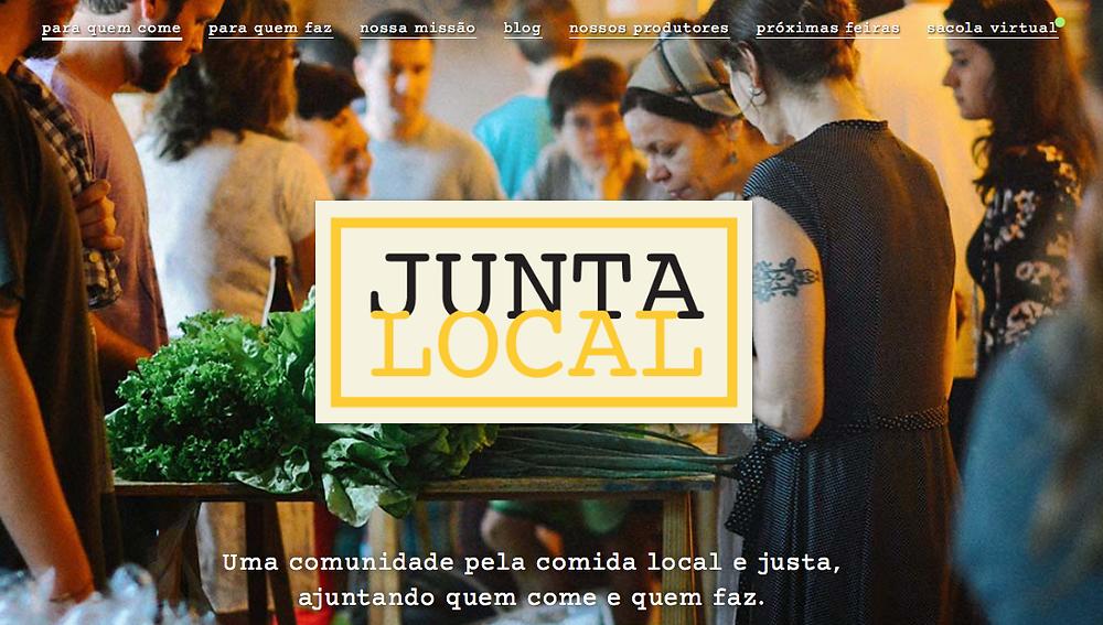 site da Junta Local