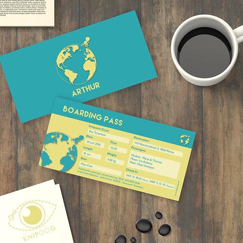 Geboortekaartje voor reizigers