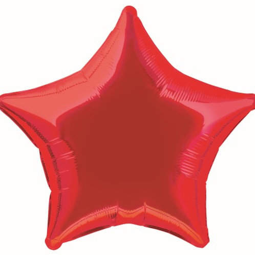 "RED STAR 50cm (20"") FOIL BALLOON"