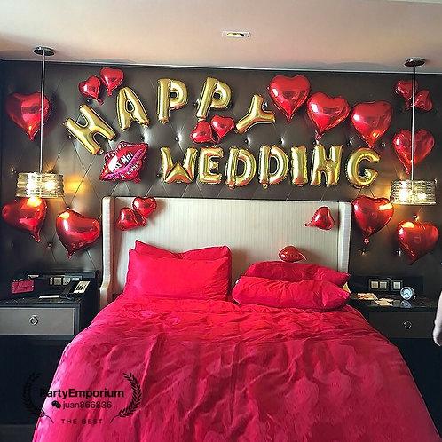 Bed Room Surprise Wedding Decoration